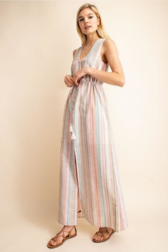 Shoptiques Product: Striped Lined Dress