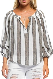 Anama Striped Linen Blouse - Front cropped