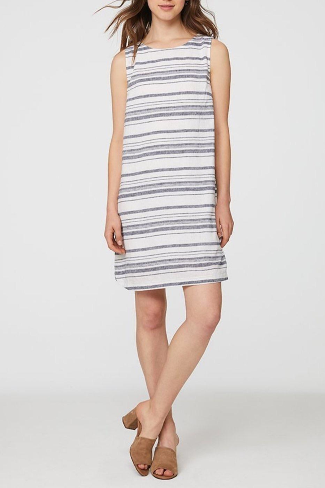 beachlunchlounge Striped Linen Dress - Main Image