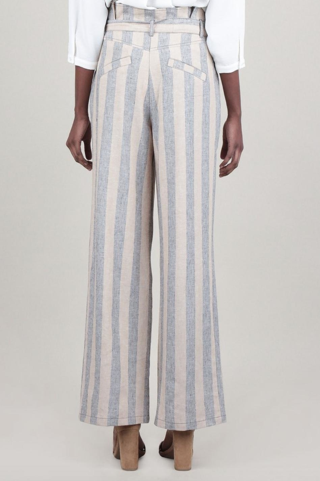 Current Air Striped Linen Pant - Front Full Image