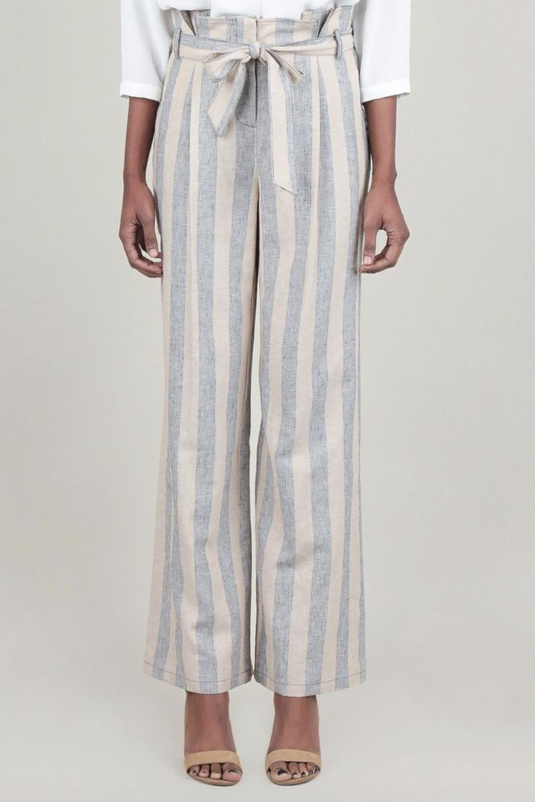 Current Air Striped Linen Pant - Front Cropped Image