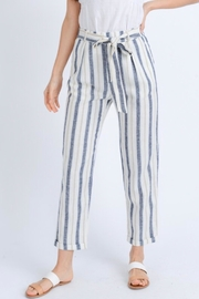 Love Tree Striped Linen Pants - Product Mini Image