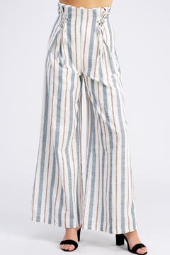 Wild Honey Striped Linen Pants - Product List Image