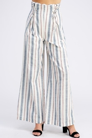 Wild Honey Striped Linen Pants - Product Mini Image
