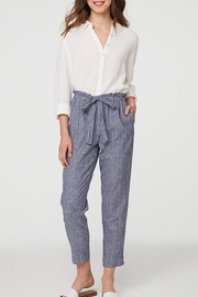 beachlunchlounge Striped Linen Pants - Front cropped