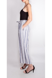 Final Touch Striped Linen Pants - Product Mini Image