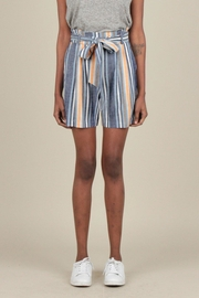 Current Air Striped Linen Shorts - Product Mini Image