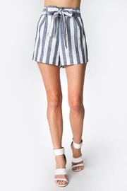 Sugar Lips Striped Linen Shorts - Product Mini Image