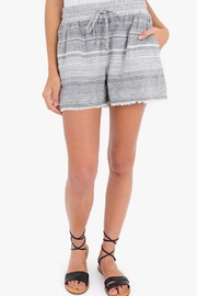 rag poets Striped Linen Shorts - Product Mini Image