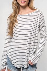 Lovestitch Striped Linen Slub - Front cropped