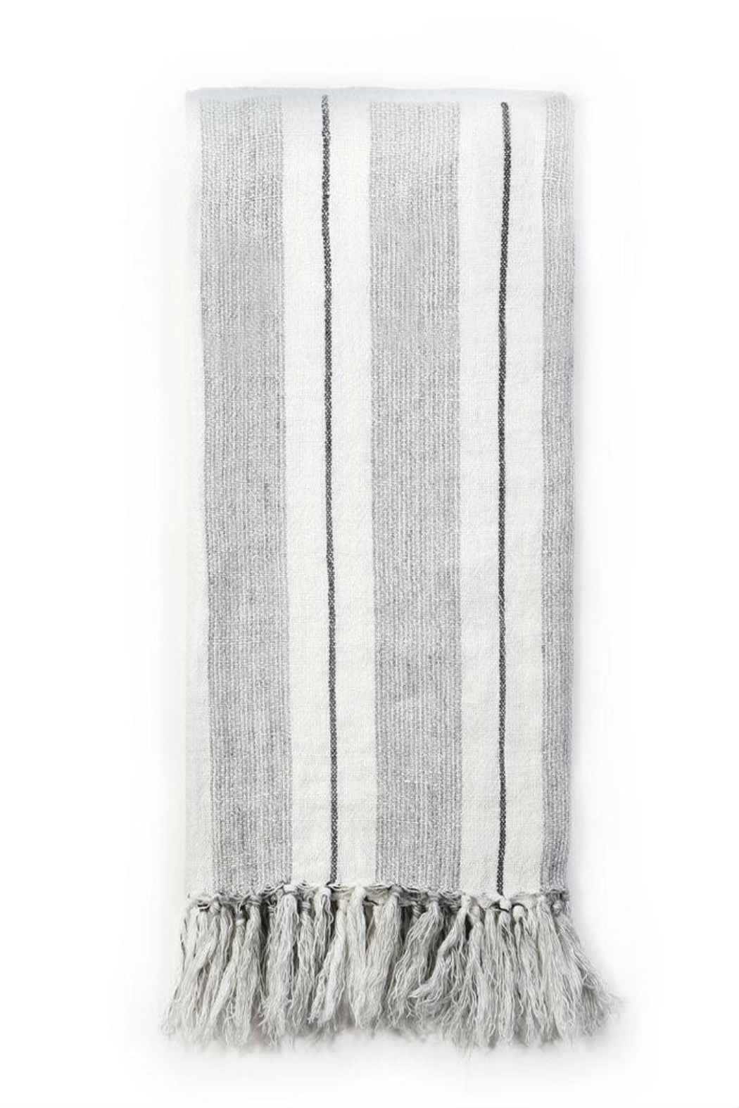 Pom Pom at Home Striped Linen Throw - Front Cropped Image