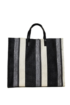 INZI Striped Linen Tote - Product List Image
