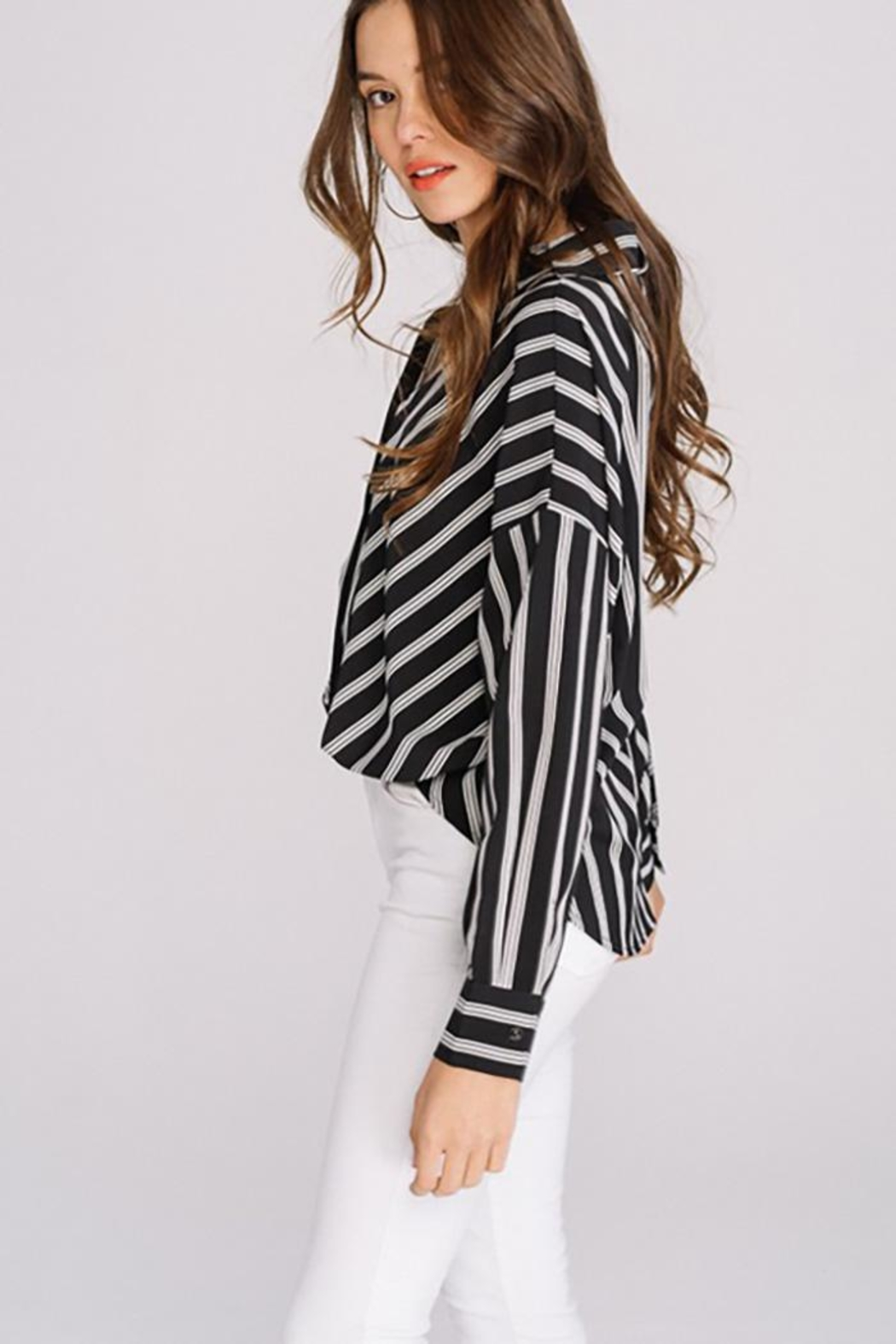 Main Strip Striped Long Sleeve - Front Full Image