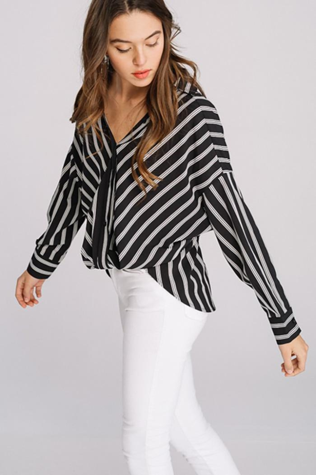Main Strip Striped Long Sleeve - Side Cropped Image
