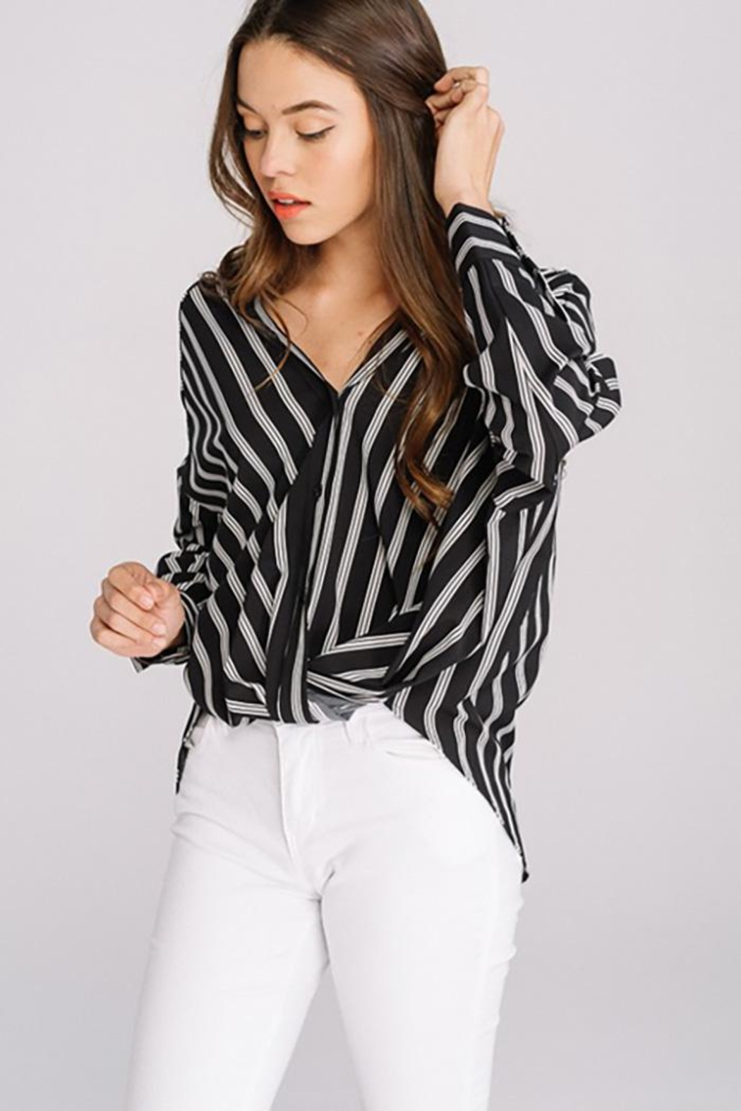 Main Strip Striped Long Sleeve - Back Cropped Image