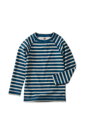 Tea Collection Striped Long Sleeve Rash Guard - Front cropped