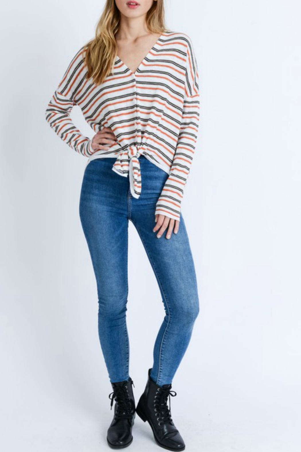 Love Tree Striped Long-Sleeve Shirt - Side Cropped Image