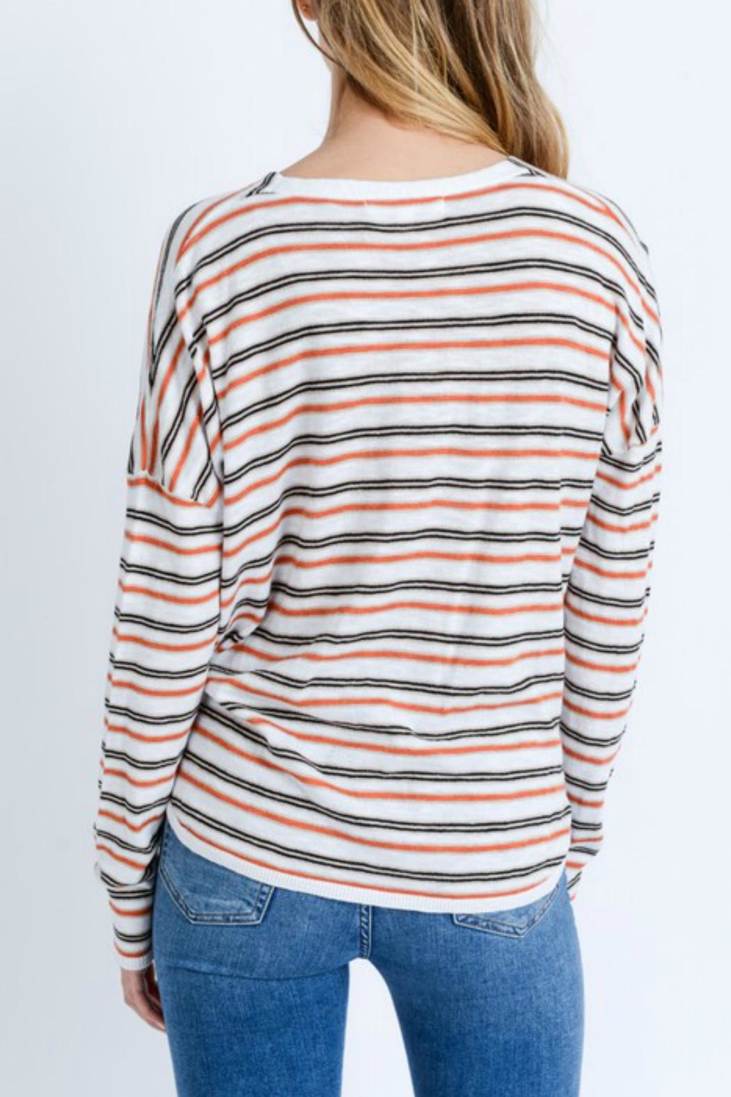 Love Tree Striped Long-Sleeve Shirt - Front Full Image