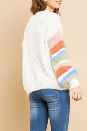 Umgee  Striped Long Sleeve  Sweater - Side cropped