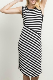 Mystree Striped Longline Dress - Product Mini Image