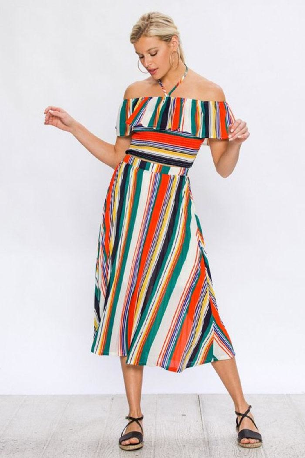 Bio Striped Matching Set - Front Cropped Image
