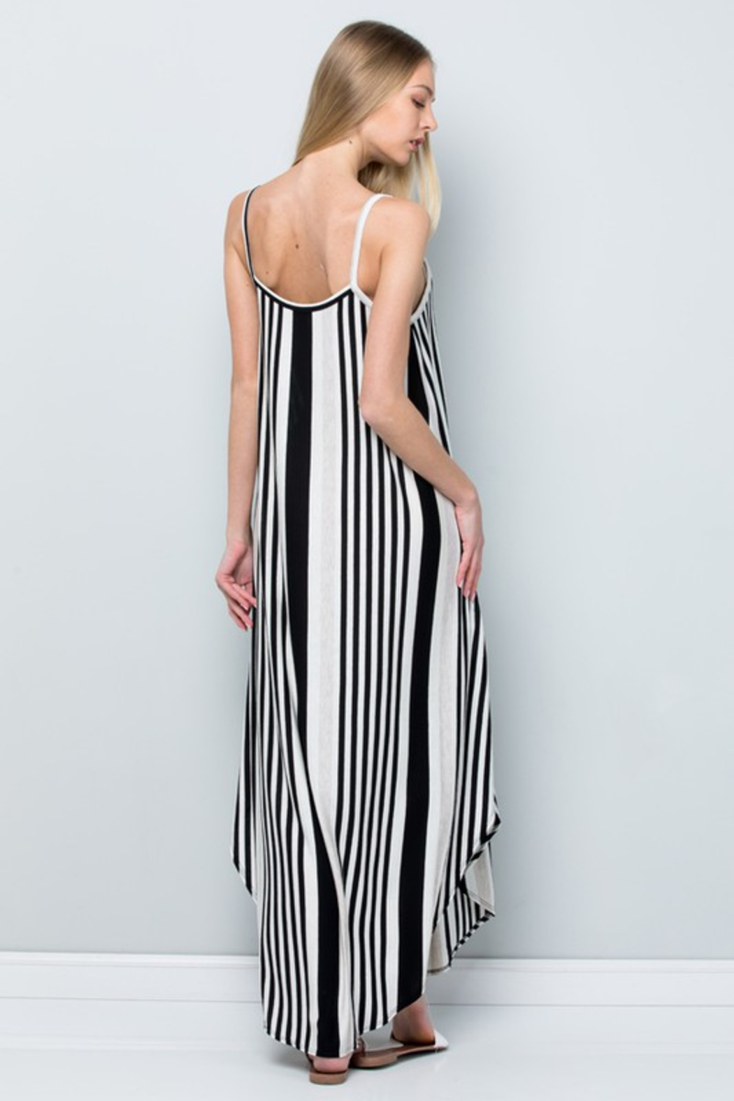 R+D  Striped Maxi - Back Cropped Image