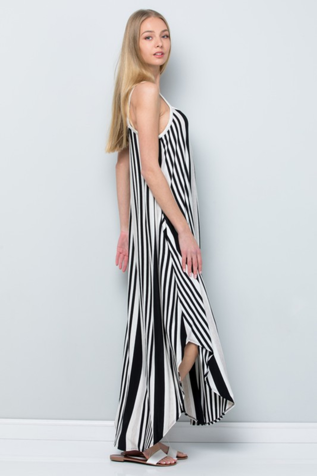 R+D  Striped Maxi - Side Cropped Image