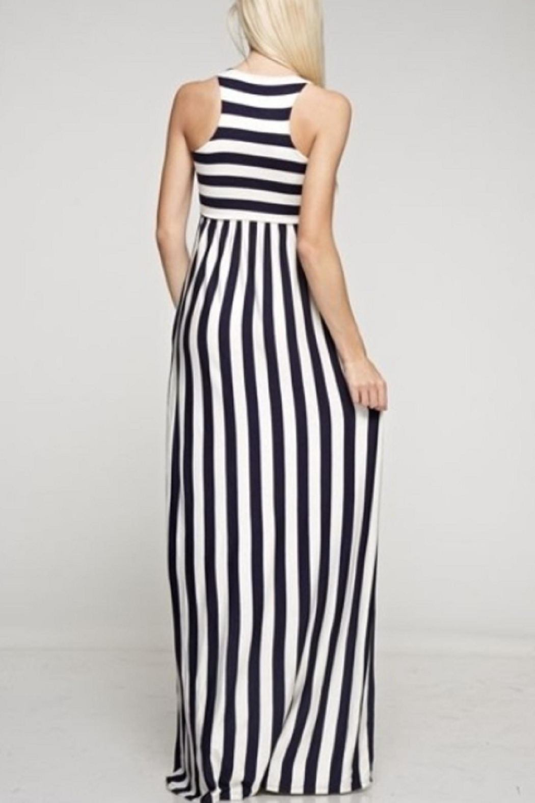 Bellamie Striped Maxi - Front Full Image