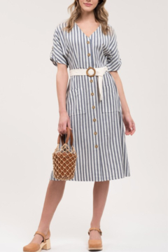 Blu Pepper Striped Midi Dress - Alternate List Image