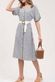 Blu Pepper Striped Midi Dress - Product Mini Image