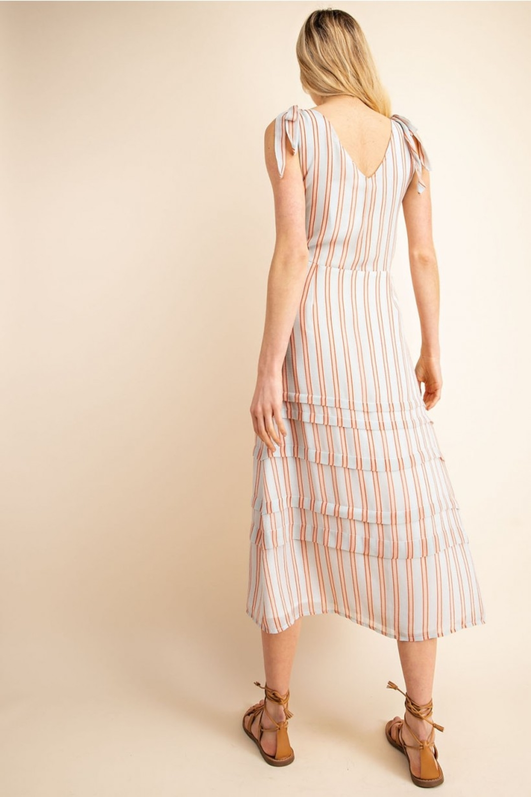 Gilli  Striped Midi Dress - Side Cropped Image