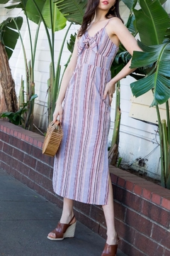 THML Clothing Striped Midi Dress - Product List Image