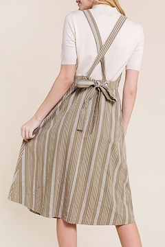 Polagram Striped Midi Apron Dress - Alternate List Image