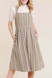 Polagram Striped Midi Dress - Product Mini Image