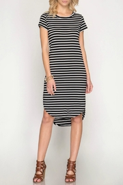 She + Sky Striped Midi Dress - Product Mini Image