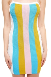 blue blush Striped Mini Dress - Back cropped