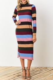 Gilli Striped Mock-Neck Dress - Product Mini Image