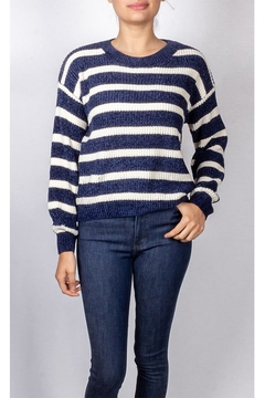 Emory Park Striped Navy Pullover - Product List Image