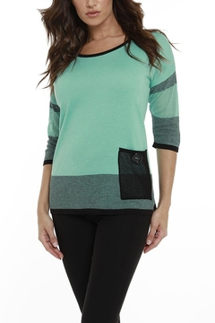 Angel Apparel Striped Netted Tunic - Product List Image