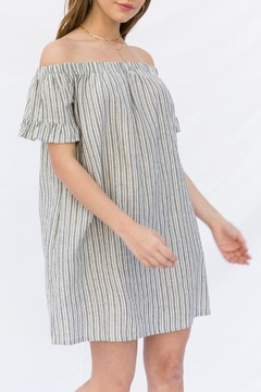 Shoptiques Product: Striped Off Shoulder