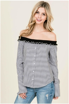 Towne Striped Off Shoulder - Product List Image