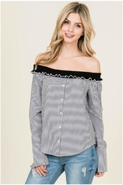 Towne Striped Off Shoulder - Product Mini Image