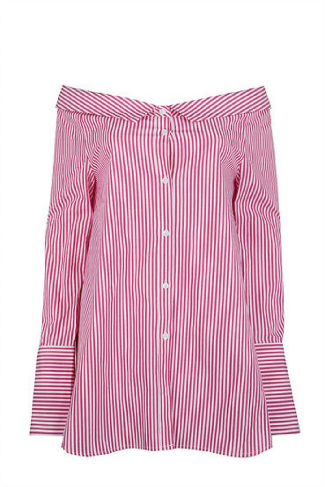 Jovonna  Striped Off-Shoulder Blouse - Main Image