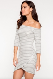 Everly Striped Off-Shoulder Dress - Front full body