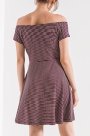 Others Follow  Striped Off-Shoulder Dress - Front full body