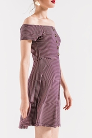 Others Follow  Striped Off-Shoulder Dress - Side cropped