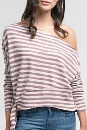 Love Stitch Striped Off-Shoulder Top - Product Mini Image