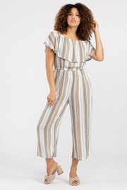 Tribal  Striped On or Off the Shoulder Jumpsuit - Product Mini Image