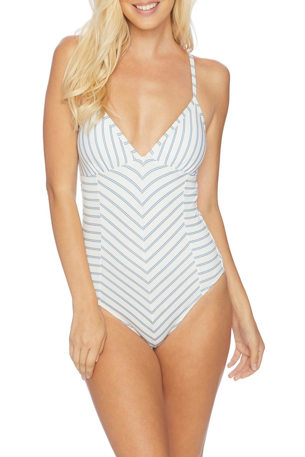 Splendid Striped One Piece - Front Cropped Image
