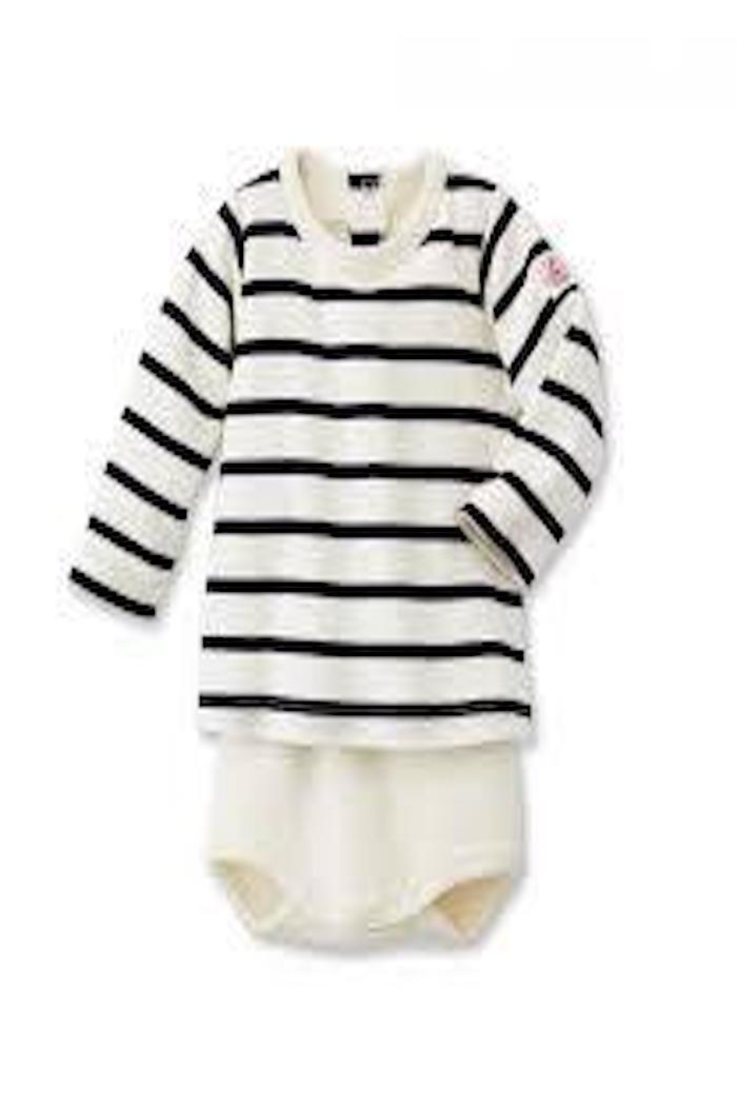 Petit Bateau Striped Onesie - Front Cropped Image